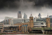City of London one of the leading centers of global finance — Stock Photo