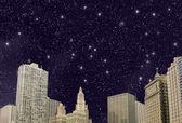 Stars above Chicago Skyline - Illinois — Stock Photo