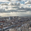 Stock Photo: Wonderful aerial view of Paris from top of Eiffel Tower - Wi
