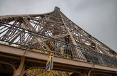 Powerful Structure of Eiffel Tower in Paris — Foto de Stock