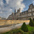 Wonderful view of Hotel de Ville in Paris, City Hall - Stok fotoğraf