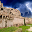 View of fortress of Castel Santangelo in Rome — Stock Photo #17003527