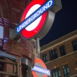 LONDON  SEP 27: Close up of two traditional station signs — Lizenzfreies Foto