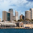 Stock Photo: Skyscrapers of Sydney Harbour in Port Jackson, natural harbour o