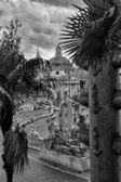 View of Piazza del Popolo in Rome from the stairs — Stock Photo