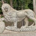 Lion Sculpture in the hill above Piazza del Popolo in Rome — Stock Photo