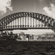 Sydney Harbour Bridge and Australian Sky - Stock Photo