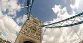 Powerful structure of Tower Bridge in London — Stock Photo
