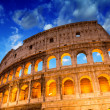 Stock Photo: Beautiful dramatic sky over Colosseum in Rome