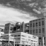 detalles arquitectónicos de Tokio, blanco y negro ver — Foto de Stock