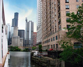 Chicago Buildings and Skyscrapers, Illinois — Foto Stock