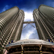 Twin Tower of Kuala Lumpur - The Petronas — Stock Photo