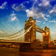 Stock Photo: beautiful sunset colors over famous tower bridge in london