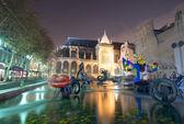 PARIS, FRANCE - NOV 30: Stravinsky Fountain (1983) is a fountain — Stock Photo