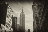 Black and White Skyline of Manhattan, New York City — Stock Photo
