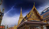Thailand. Beautiful colors of Famous Bangkok Temple - Wat Pho — Stock Photo