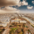 Wonderful aerial view of Paris from the top of Eiffel Tower — Stock Photo #18115901