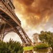 Stock Photo: Beautiful sunset colors of Eiffel Tower