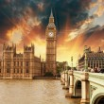 Domy Parlamentu, Pałacu Westminsterskiego — Zdjęcie stockowe
