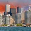 Toronto. Beautiful view of city skyline from Lake Ontario — Stock Photo #18129247