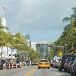 MIAMI BEACH, USA - JAN 7: Beautiful view of Ocean drive — Stock Photo