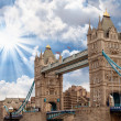 Stock Photo: Power and Magnificence of Tower Bridge Structure