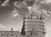 Quebec City Castle, Canada. Beautiful sky — Stock Photo