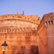 Stock Photo: Magnificient colors of Castel Santangelo at Sunset - Rome