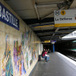 Bastille Metro Station sign - Paris - Stock Photo