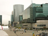 Описание:PARIS - OCT 10: Panorama of La Defense on October 10, 2009 in Paris, France. — 图库照片