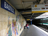 Bastille Metro Station sign - Paris — Stock Photo