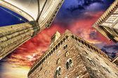 Palazzo Vecchio and Piazza della Signoria in Florence. Beautiful — Stock Photo