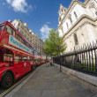 LONDON - SEP 29 : Red Double Decker Bus in the street of London — Stock Photo