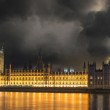 Storm over Big Ben and House of Parliament - London — Stock Photo #18571529