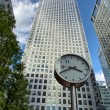 Canary Wharf financial district buildings in London. — Foto de Stock