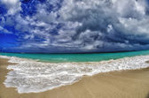 Caribbean Sea turquoise white Sand Beach — Stock Photo