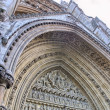 Westminster Abbey Facade exterior view - London — Stock Photo