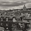 Panoramic view of Rome from Pincio Promenade, St Peter Square on — 图库照片