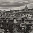 Panoramic view of Rome from Pincio Promenade, St Peter Square on — Foto de Stock