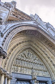 Westminster Abbey Facade exterior view - London — Stok fotoğraf