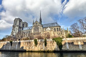 Paris. Beautiful view of Notre Dame Cathedral — Stock Photo
