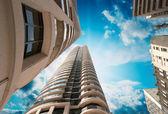 Maravillosa vista al alza de toronto modernos edificios y rascacielos — Foto de Stock