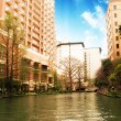 River and Buildings of San Antonio - ストック写真