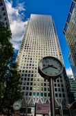 Canary Wharf modern skyscrapers - London — Stok fotoğraf