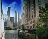 Chicago edificios y rascacielos, illinois — Foto de Stock