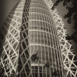 Architectural detail of Tokyo, Black and White view — Stockfoto