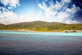 Landscape of a Caribbean Island — Stock Photo