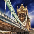 Storm over Tower Bridge at night - London — Stockfoto