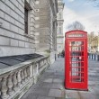 London. Classic Red Phone Booth — Foto de Stock