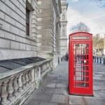 Londen. klassieke rode telefooncel — Stockfoto